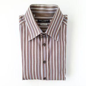 Dolce & Gabbana Tailored Fit Dobby Sport Shirt